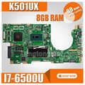 K501UX اللوحة الأم 8G RAM I7-6500U GTX950M ل ASUS K501UX K501UB K501U K501 اللوحة المحمول K501UX اللوحة الرئيسية اختبار موافق