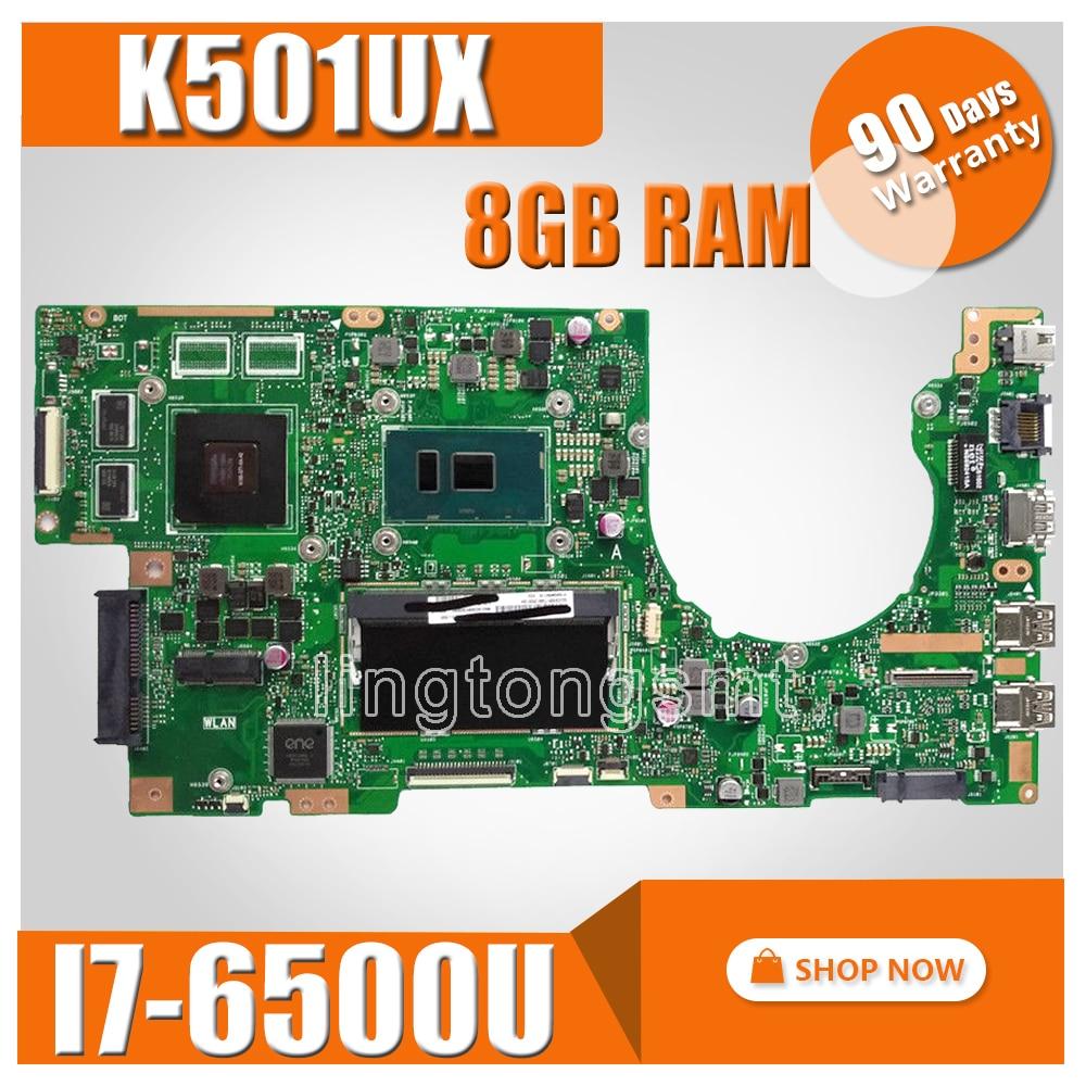 K501UX Motherboard 8G RAM I7-6500U GTX950M For ASUS K501UX K501UB K501U K501 Laptop Motherboard K501UX Mainboard Test OK