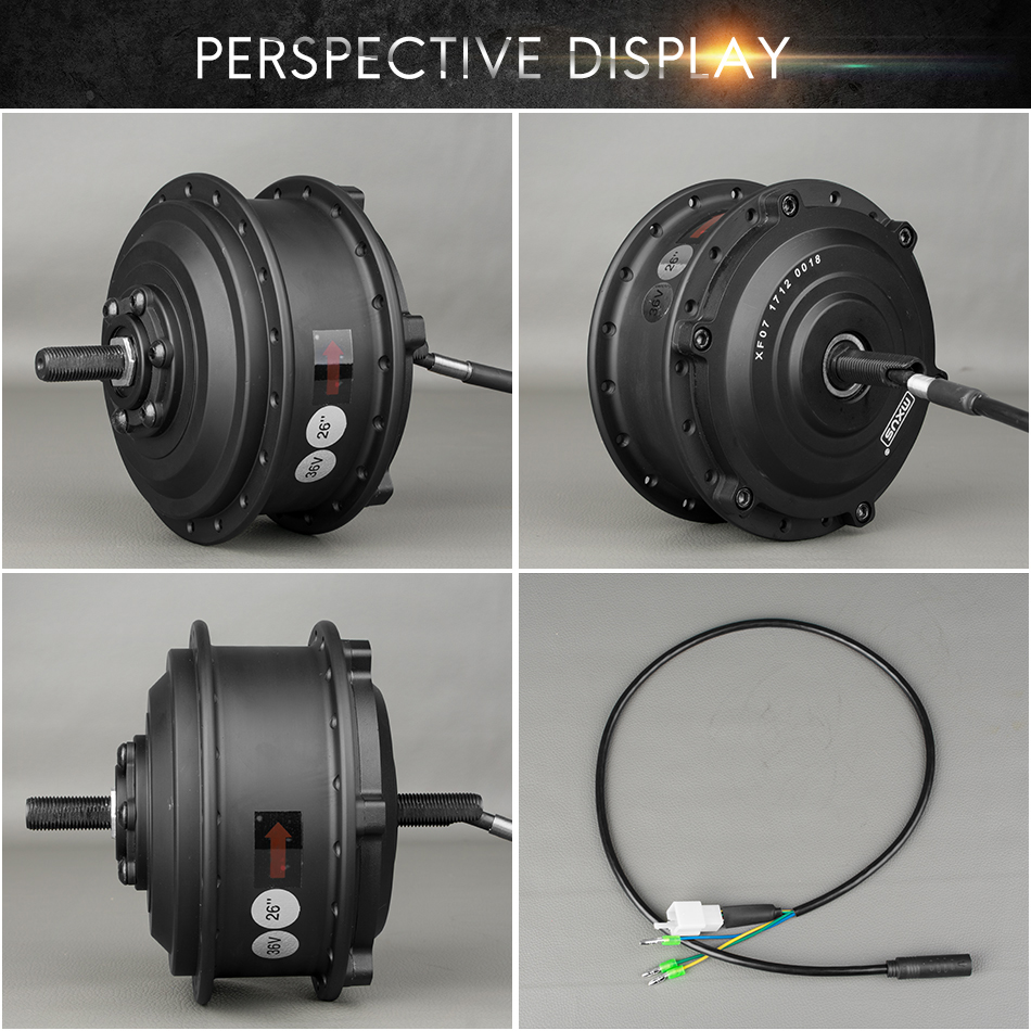 Perfect 36V 48V 350W Electric Bicycle Brushless Gear Hub Wheel Motor 26 inch - 28inch 700C Bike Conversion Kit Front Wheel Spoke Motors 2