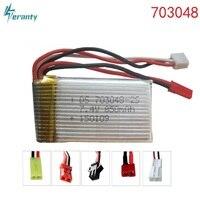 7.4 v 850 mah 703048 lipo bateria para udi u829a u829x mjxrc x600 hq 907 controle remoto li-po bateria 7.4 v 850 mah 20c jst sm plug