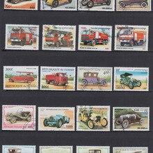 50 шт./лот, транспорт для грузовиков, все разные из многих стран, без повторения, неиспользованные почтовые марки для сбора