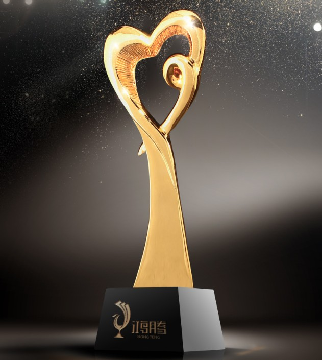Hot sale!2017 NEW High quality DIY Resin Love trophy , gold plated high-grade trophy,Free shipping цены