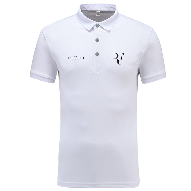 RF roger federer logo   Polo   Shirt Men Brand Clothes Solid Color   Polos   Shirts Casual Cotton Short Sleeve   Polos