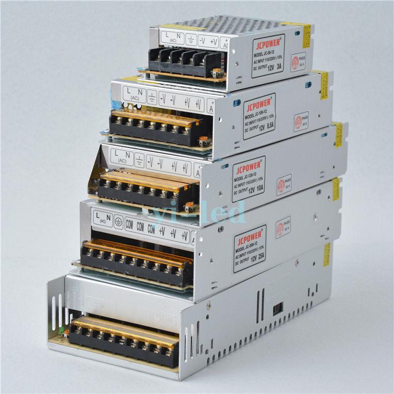 Tireless 12v 1a/3a/5a/6.5a/8.5a/10a/12.5a/16.5a/20a/25a/30a/40a/50a/60a Lighting Transformers Regulated Switching Led Power Supply Fine Craftsmanship Led Lighting Lights & Lighting