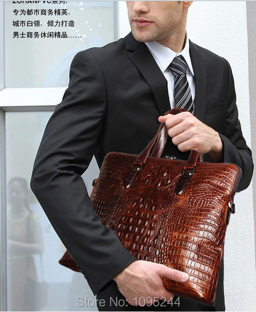 Diplomat Dress Handbag Business Bag New Arrive Original Crocodile Genuine Leather Lady Tote Whole An
