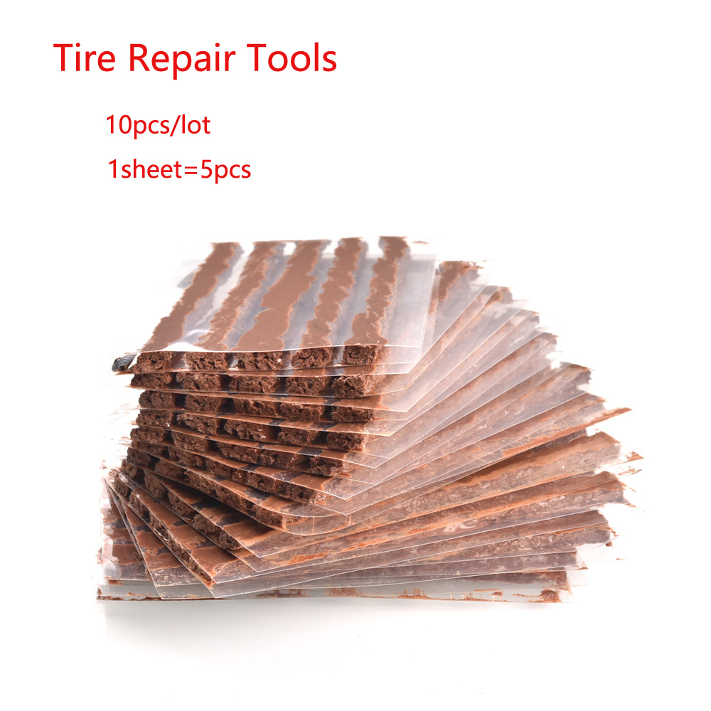 10Pcs/lot Car Motorcycle Bike Rubber Strips Tubeless Seal Strip Vacuum Wheels Tire Puncture Tape Auto Tire Repair Tools