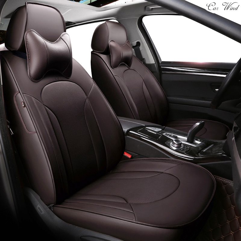 Car Wind Custom Leather Car Seat Cover For Toyota
