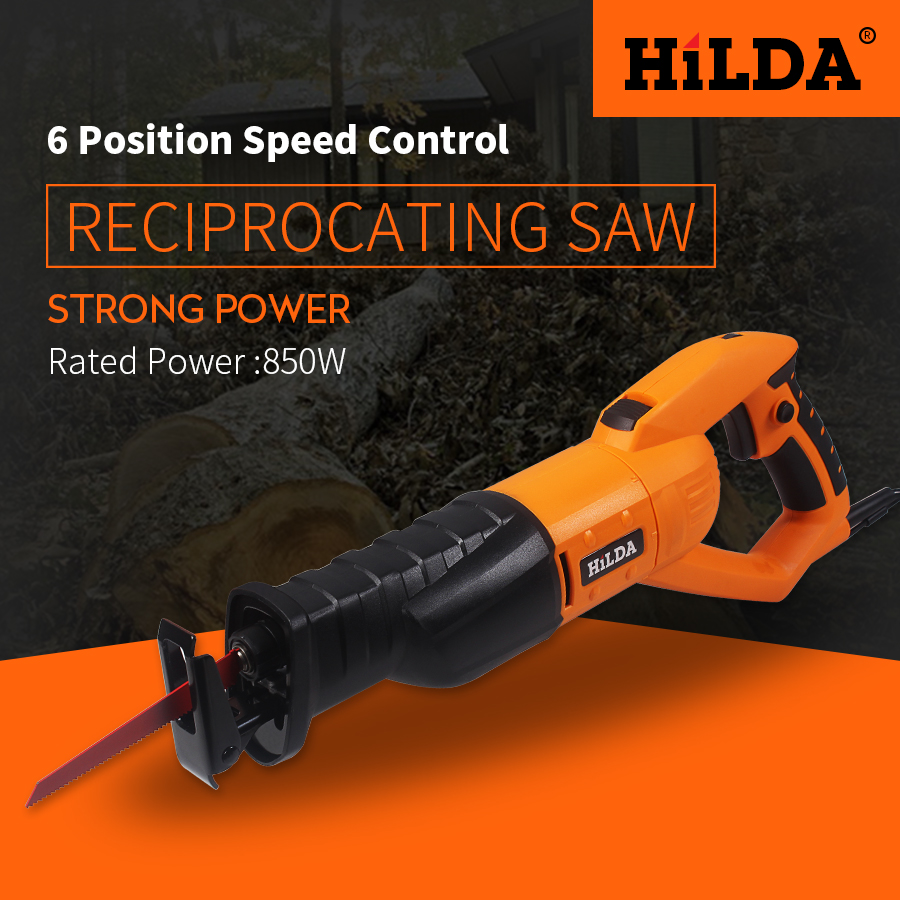 HILDA 950w Reciprocating Saw Woodworking Electric Saw 6 Speed Portable Electric Saws 220v/50hz Scroll Saw Jig Saw woodworking scroll saw 150w wood scroll saw 406mm max cutting width jig saw 127mm height saw blade drawloom