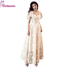 Элегантное Длинное Вечернее Платье; Новый стиль; Фатиновое кружевное