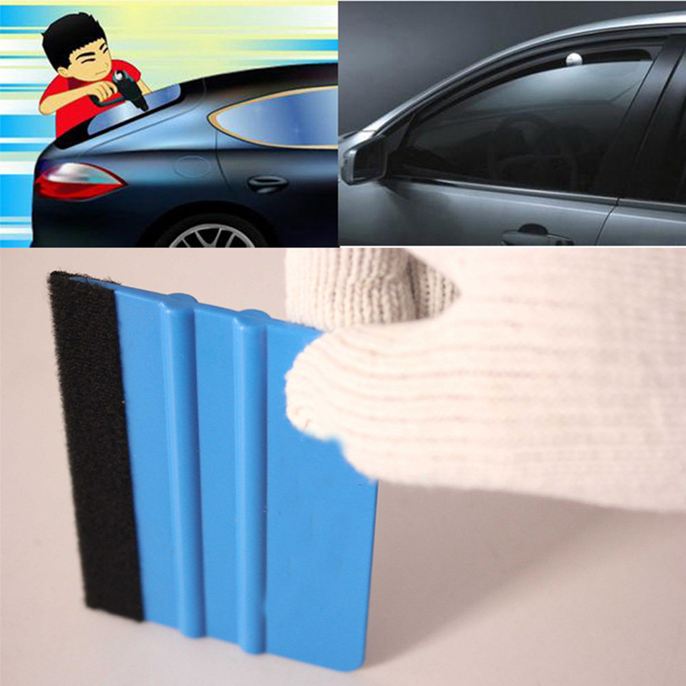 1PCS Vinyl Film scraper tools Blue Red Scraper Suede Felt Scraper for Car Styling Stickers Accessories in Car Covers from Automobiles Motorcycles