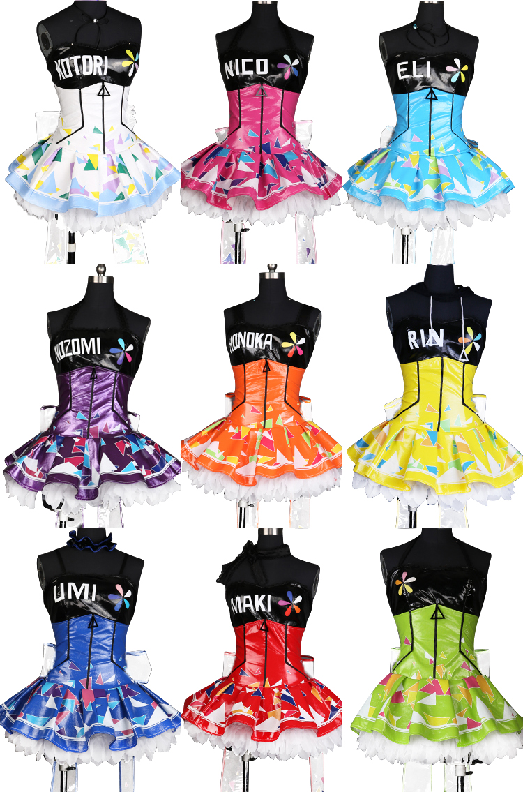 Love Live! Cyber Idolized Gaming Game Awaken Uniforms Cosplay Costume for Halloween party event