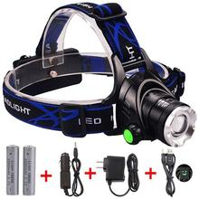 Powerful LED headlamp fishing headlight T6/L2 3 modes Zoomable lamp Waterproof Head Torch flashlight Head lamp use 18650 Battery 2019 new led headlamp headlight 6000 lumen xml t6 zoomable lamp waterproof head torch flashlight head lamp use 18650 battery