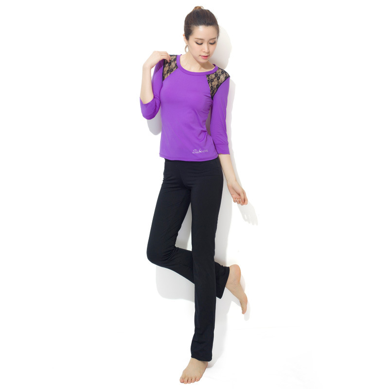 2016 Autumn Gym Fitness Clothing Women Tracksuit Set Sports Suits Running Pants T Shirt Two Pieces