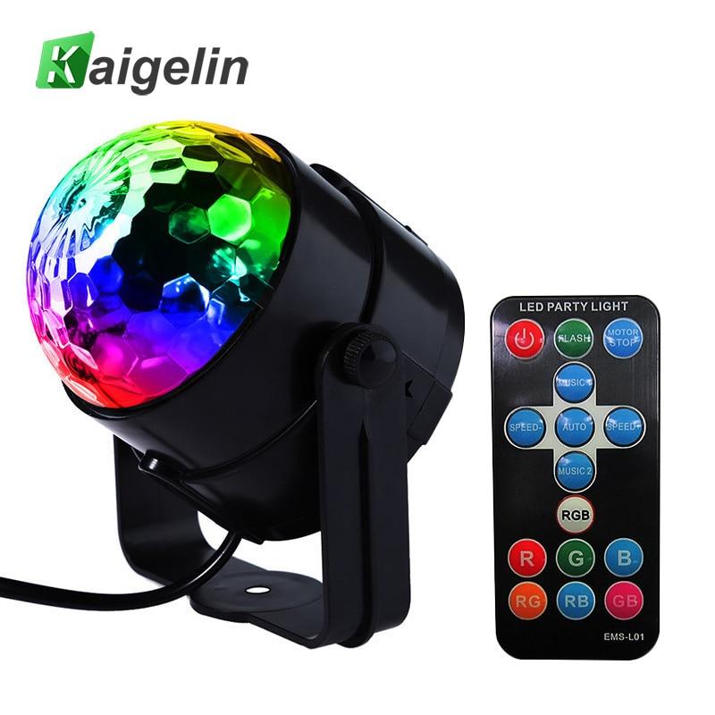 LED Crystal Magic Ball 3W Mini RGB Fase Effetto luce Lampadina Decorazione per feste Discoteca DJ Spettacolo di luci DJ Spina US / EU / UK