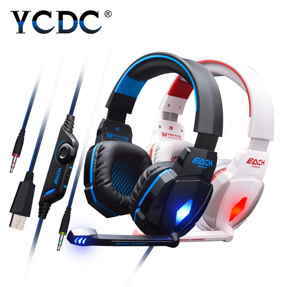 YCDC PC Game DOTA Rye for Pioneer LOL LED Light Headset Gaming Headphones  Microphone Stereo Surround Headband Fone De Ouvido computer game headphone stereo surround earphones gaming headset with mic stereo bass led light headphones for pc game dota ps4