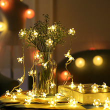 4m 40LED Light String Battery Power Cherry Blossom Fairy Lights For Christmas Wedding Home Decoration
