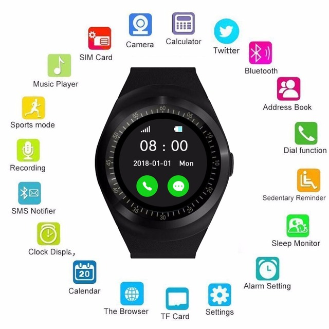 1.54″ Bluetooth Smart Watch Android iOS smart phone watch Support TF/SIM card fitness smart watch for children/Adult smartwatch