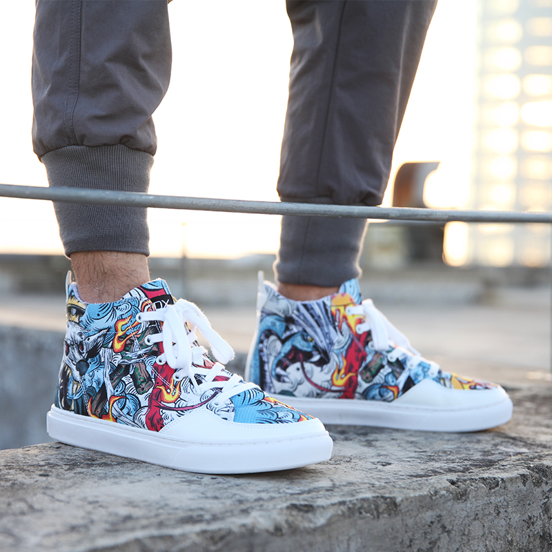 IDX Street fighting graffiti comfortable fashion culture chinese hippop oldschool work shoes man in Work Safety Boots from Shoes
