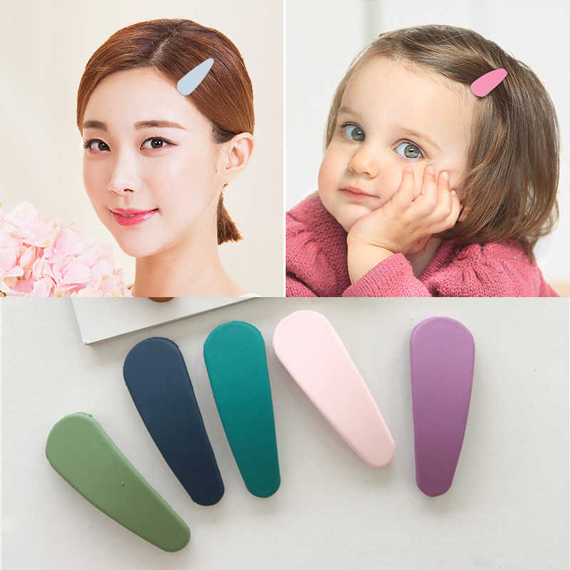 1pcs Candy Color Geometric Shape Matte Texture Hairpin Hair Jewelry BB Hair Clip for Women Girls Hairpin Styling Accessories