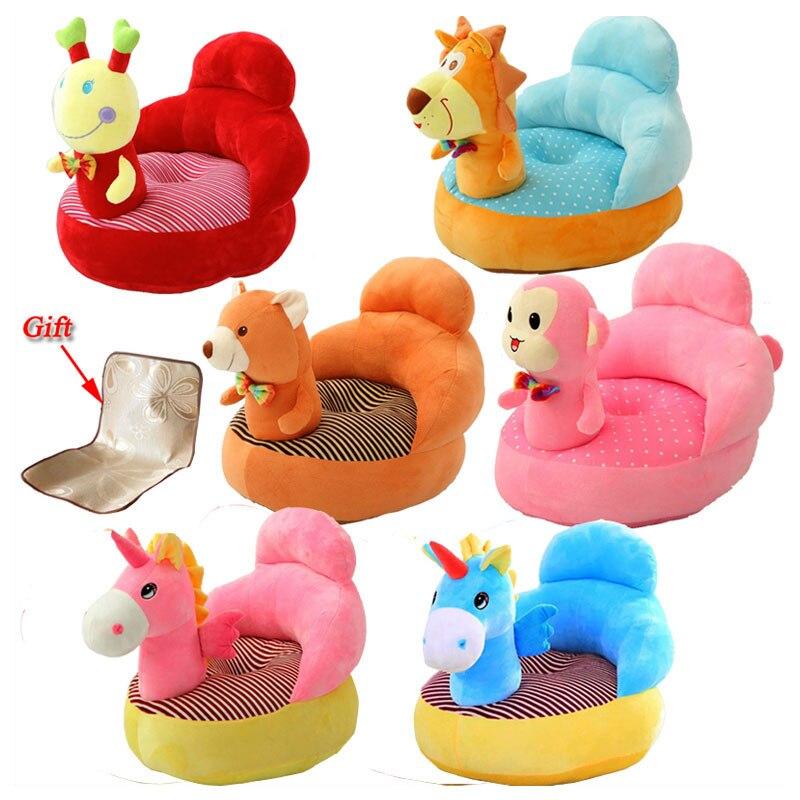 Nuevo bebé a aprender a sentarte sofá asiento de seguridad infantil de dibujos animados perezoso bebé asiento cojín almohada habitación aprendizaje sofá almohada 4M ~ 3Y