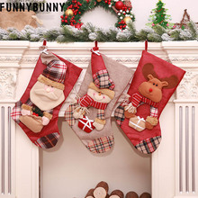 FUNNYBUNNY Christmas socks candie decorations gift bags snowmen pendants
