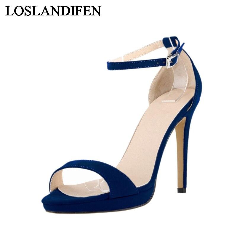 Nlk Tacón Señoras Correa Zapatos Sandalias Cuero 2 Rebaño 3 Confort Plus Tamaño Una Abierta De c0106 Alto Mujeres Verano 1 Las 4 Punta Moda qwU7Y