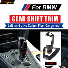 For BMW All 4-Series Left hand drive Carbon car genneral Gear Shift Knob Cover F32 F33 F36 F82 F83 420i 428i 435i 440i A+C Style