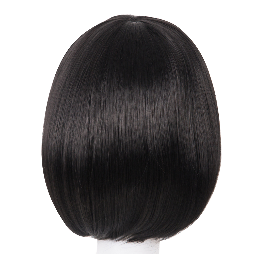 Brilliant Short Wig Fei-show Synthetic Heat Resistant Fiber Wavy Inclined Bangs Hair Brown And Blue Costume Cos-play Salon Party Hairpiece Synthetic None-lacewigs Hair Extensions & Wigs