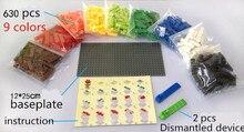 630pcs Small Buidling Blocks Educational Creative DIY Kids Toys Girls Boys Toys Kids Bricks Toys Compatible with legoe