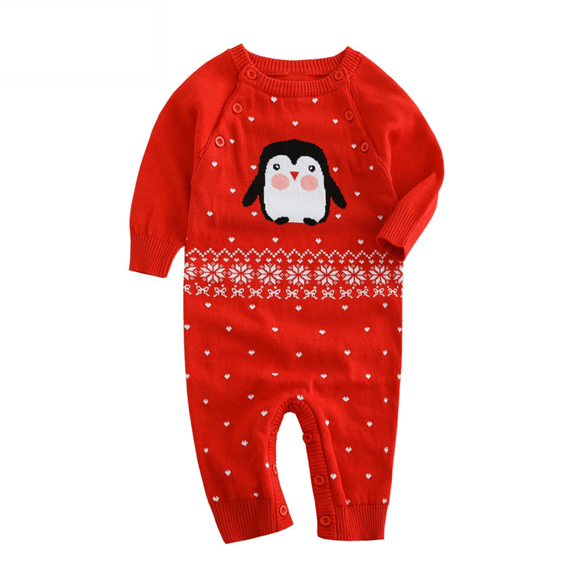 Newborn baby clothes set unisex baby girl boy rompers autumn 100% cotton jumpsuit knit overalls roupa infantil menina DQ286 unisex baby rompers cotton cartoon boys girls roupa infantil winter clothing newborn baby rompers overalls body for clothes