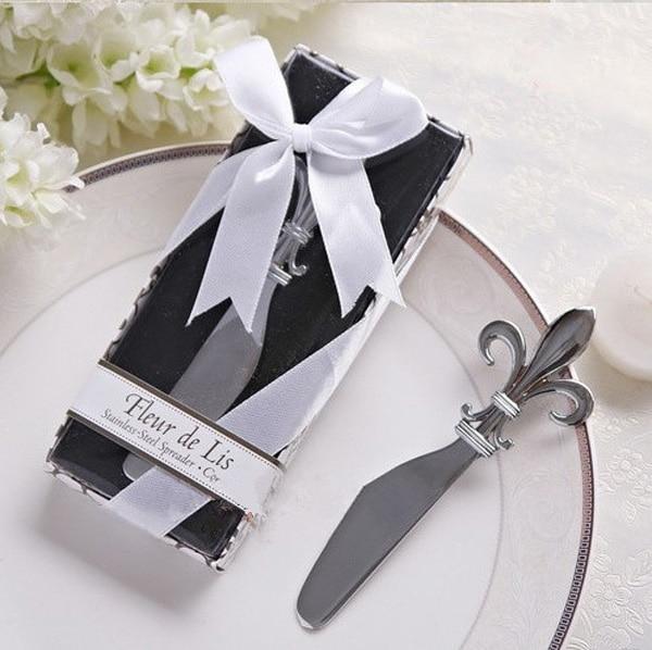 Fleur de Lis Chrome Spreader Butter Knife 20PCS/LOT Wedding Favor ...