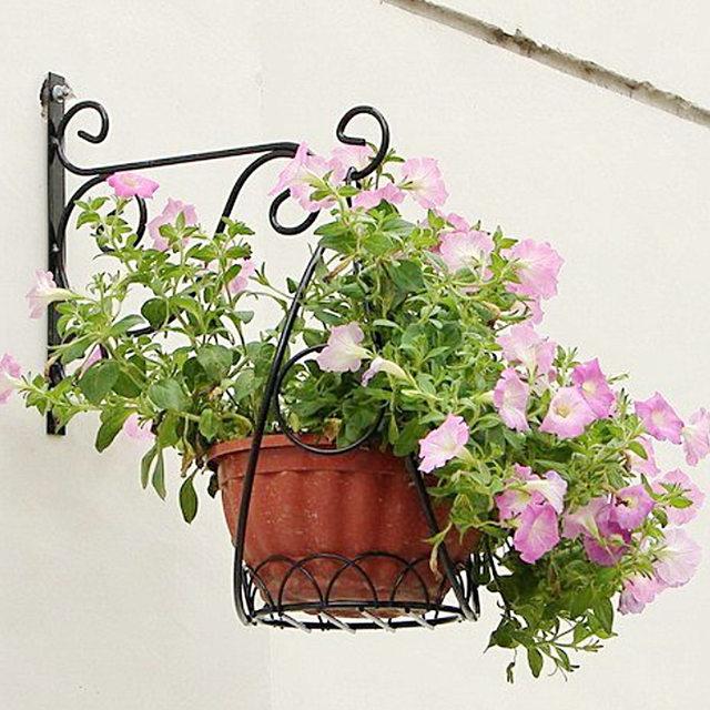 Online Shop Behokic Metal Plant Hanger Bracket Wall Hanging Plants Hook For Garden  Planters Birdcage Lantern Flower Pot Balcony Decoration | Aliexpress ...