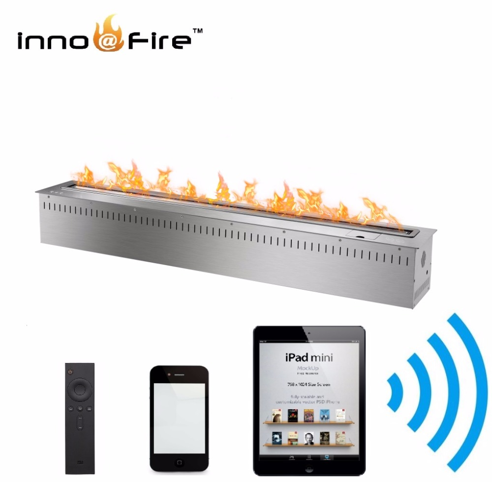 On Sale 48 Inch Decorative Smart Control Stainless Bio Fuel Fireplace