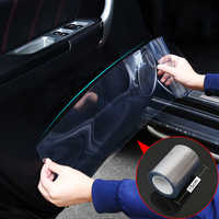 Car Styling 15cmx100cm Rhino Skin Protective Film Car Bumper Hood Paint Protection Sticker Anti Scratch Clear Transparence Film