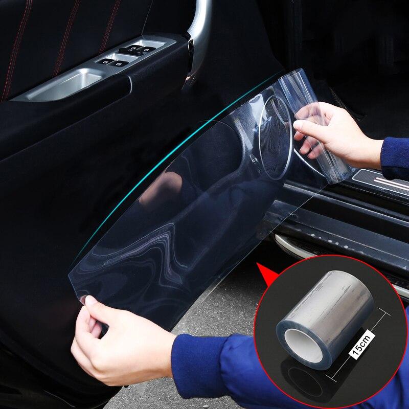 Car Styling 15 centimetri x 100 centimetri di Pelle di Rinoceronte Pellicola Protettiva Paraurti Auto Hood Vernice pellicola di Protezione Sticker Antigraffio Trasparente trasparenza Film
