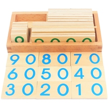 Children Wooden Montessori Number Digital 1-9000 Cards Toys For Students Learning Small Size Educational Early Educational Toy