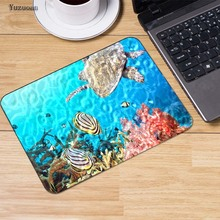 Yuzuoan Fish And Tortoise Gaming Mouse Pad No Locked Edge Rubber Mouse pad Mousepad mat Speed Version For  LOL dota2 Office