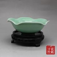 Chinese old porcelain Light green glaze Porcelain bowl
