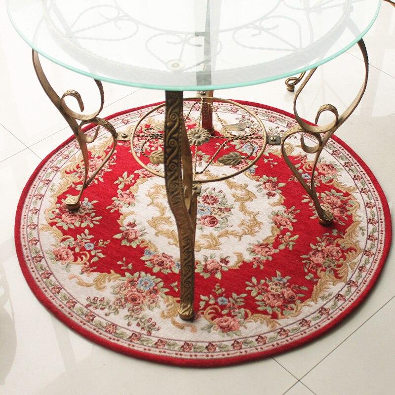 Honlaker européen Dornier rond salon tapis thé Table décoratif tapis chaise tapis chambre tapis de sol 90x90 CM