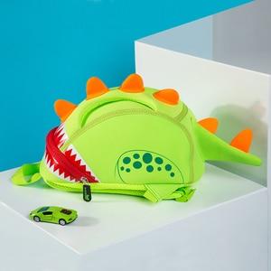 Image 4 - NOHOO Toddler Kids Dinosaur Backpack for Boys Children Dinosaur Bookbag Toys Bag Waterproof 3D Cartoon Girls Preschool Backpack