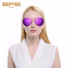 цена EFE Women Sunglasses Mirror Lens Shades Lightweight Frame Sun Glasses Brand Designer Men Female Oculos Lentes De Sol Mujer