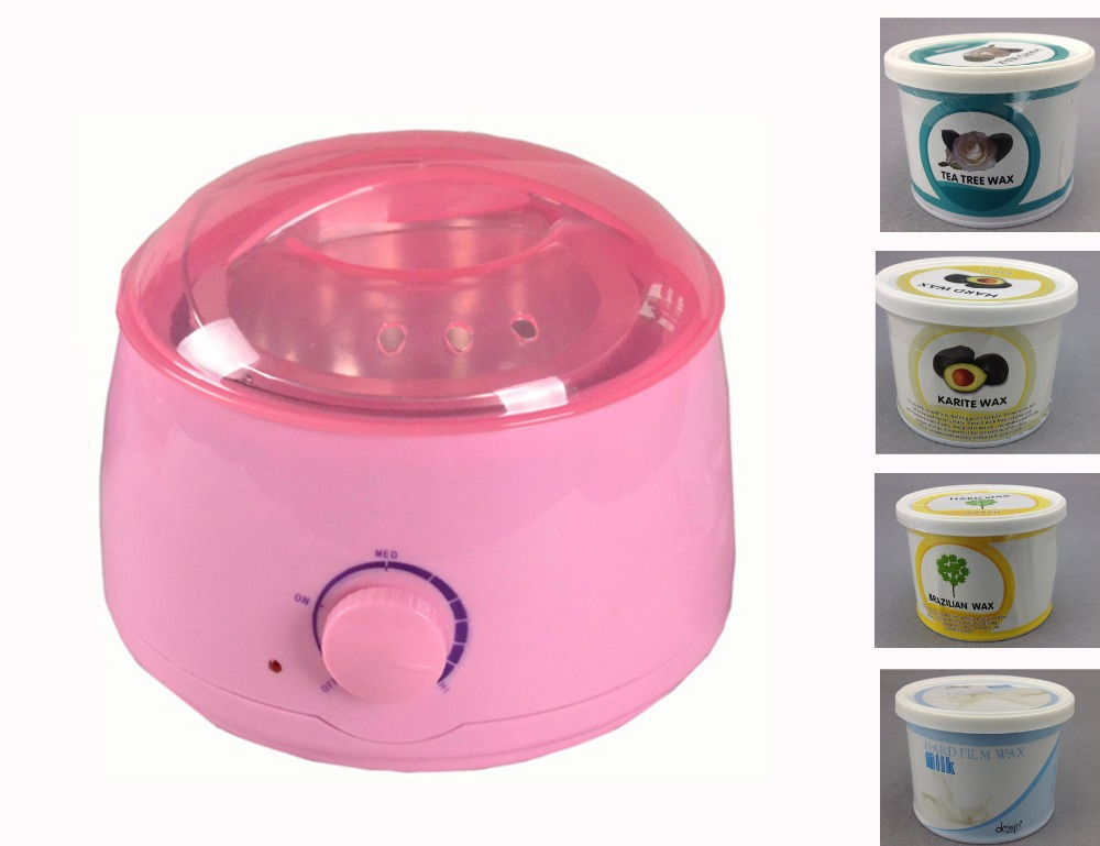Wax Heater 110V/220V-240V 50/60Hz Wax Warmer 500ML Nourishing Hand / Face / Foot Care Hair Removal Machine Shaving Pink