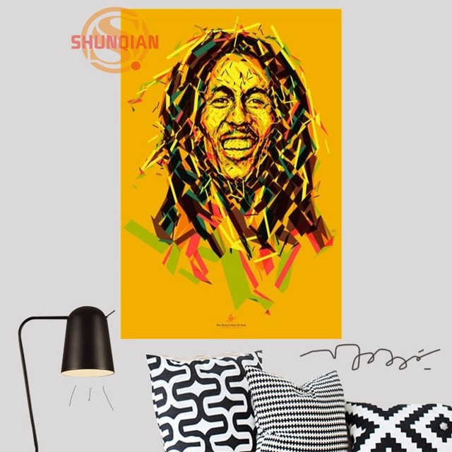 Custom bob marley Canvas Silk Fabric Poster Custom wall poster Print ...