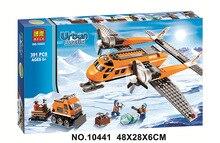 Free Shipping Bela  391Pcs City Arctic Supply Plane Model Buildinlg Kits Minifigures Blocks Brick Toy Compatibe With  60064
