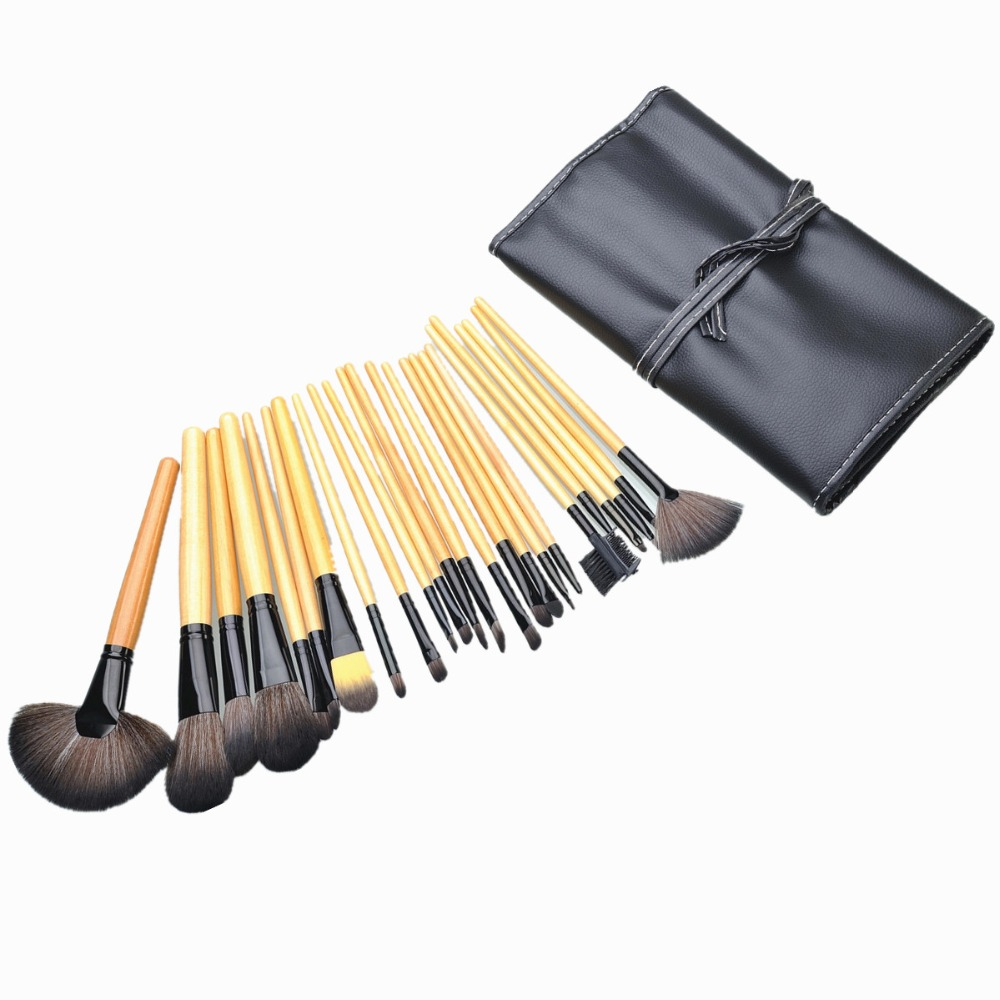 Makeup Brushes 24PCS Pincel De Maquiagem Make Up Brushes Maquiagem Pro Makeup Brush Set Make Up Toiletry Kit Cosmetic+Makeup Bag aquarium liquid glitter brush set mermaid makeup brushes bling bling glitter handle make up brush kit pincel sereia maquiagem