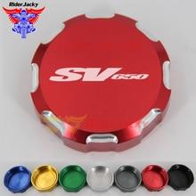Motorcycle Front Brake Master Cylinder Fluid Reservoir Cover Oil Cap For SUZUKI SV650 SV 650 1999-2008 2007 2006 2005 2004 2003