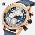 Высококачественные мужские часы с кожаным ремешком T5  дизайнерские Кварцевые водонепроницаемые часы с секундомером  спортивные часы