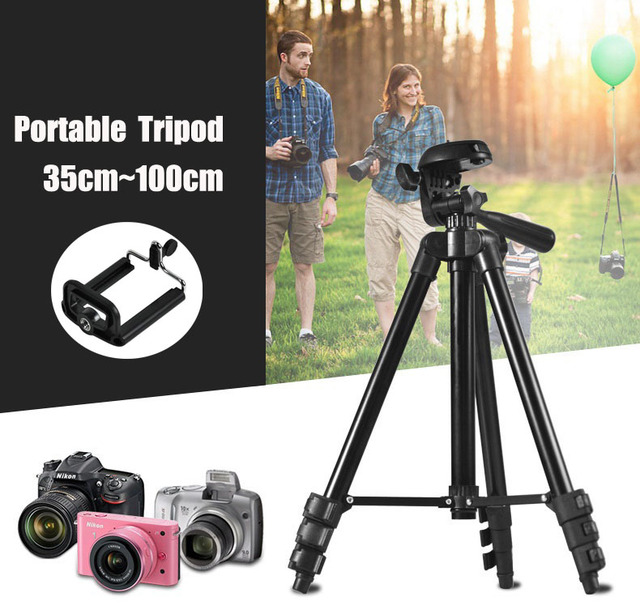 Tripés de câmera filmadora tripé digital portátil universal suporte de peso leve de alumínio tripe tripé para canon nikon sony telefone