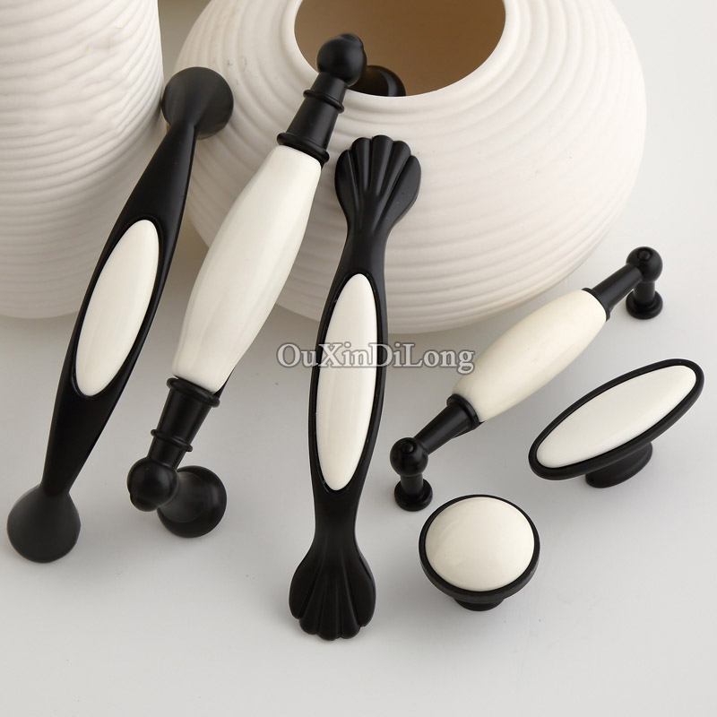 Top Designed 10PCS Ceramic Furniture Handles European Rural Style Cupboard Drawer Dresser Pull Kitchen Cabinet Handles
