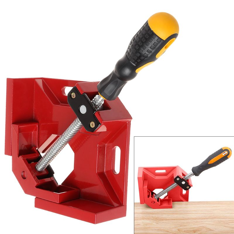 280x214x54mm Aluminum Single Handle 90 Degree Right Angle Clamp Woodworking Frame Clip Folder Tool280x214x54mm Aluminum Single Handle 90 Degree Right Angle Clamp Woodworking Frame Clip Folder Tool
